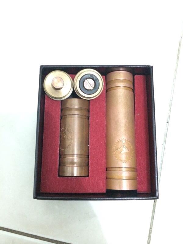Jual mechanical mod vanilla full copper, include batrai 18650