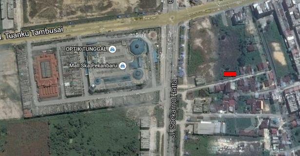 Tanah Dijual ukuran 400m2 dekat SKA Mall pekanbaru