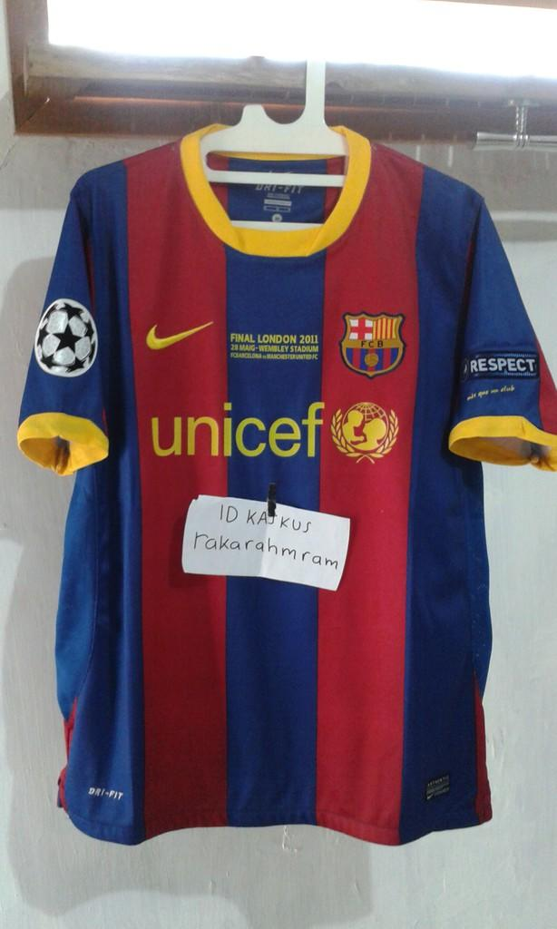 Jersey Paketan Barca Barcelona Home 14/15 dan Final London fullpatch murah banget