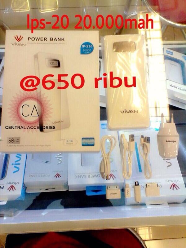 Powerbank vivan bergaransi dan bersegel