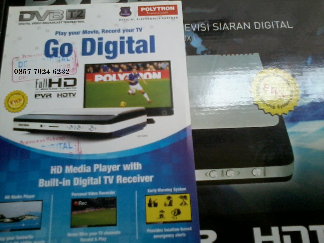 SET TOP BOX SIARAN TV DIGITAL TANPA SEMUT POLYTRON DVBT2 - COD TANGERANG & JAKARTA