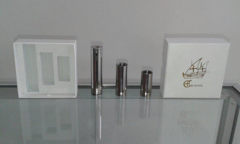 rokok elektrik / vaporizer caravela single triple mod 2nd, new caravela copper
