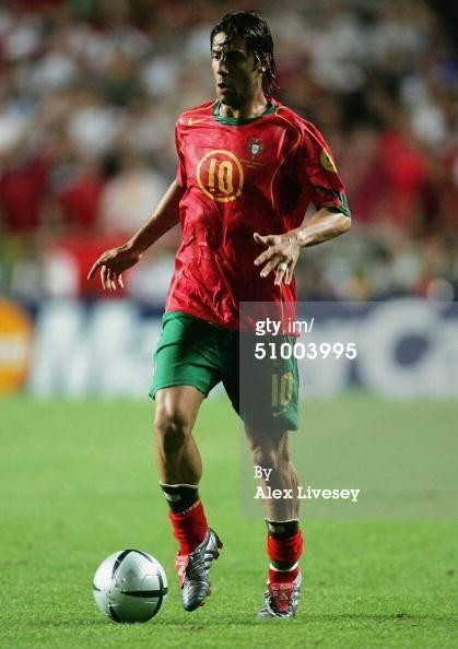 JERSEY PORTUGAL HOME 2004 ORIGINAL (RUI COSTA 10) W/mdt