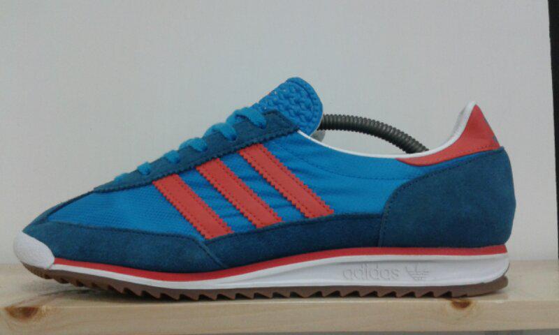 Adidas Sl 72 blue strip merah