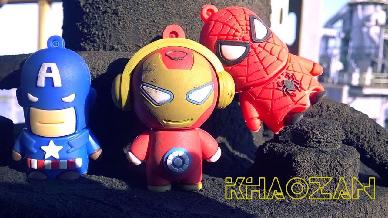 USB Flashdisk - MARVEL HEROES: Iron Man, Spider Man, Captain America