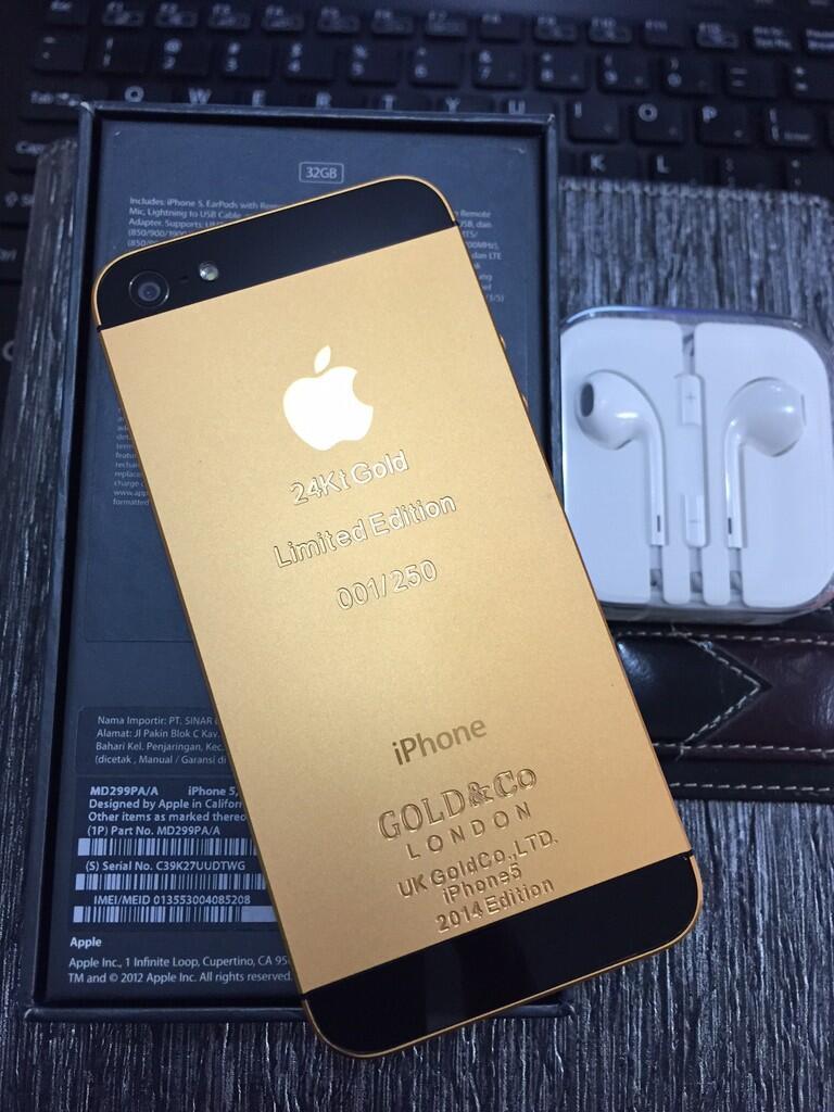 I Phone 5 Black-Gold Limited Edition 99% Fs
