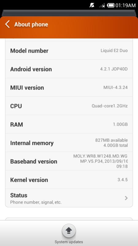 Jual Cepat [BU] Acer Liquid E2, Quadcore Full Set Apa Adanya