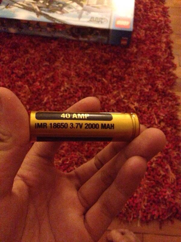 Vamped 2000mAh 40A 18650 for vaporizer / vapes