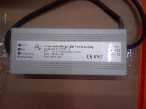 jual adoptor trafo waterproof 60 watt 12 volt ip 67