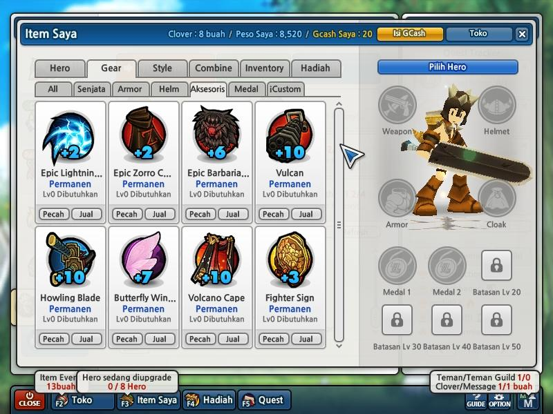 WTS Char Lostsaga Indonesia CPT Class 3(99%)
