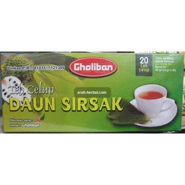arah-herbal.com --- Gholiban - Teh Celup Daun Sirsak