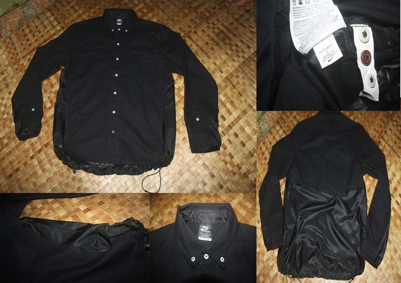 JUAL Nike NSW Ventile Button Down Run Jacket Black original