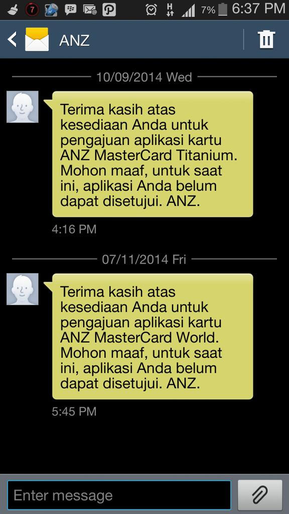 penyalahgunaan data oleh bagian kartu kredit anz
