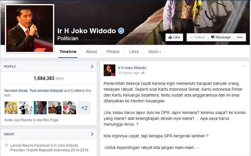 [Emang...] Komunikasi Politik Buruk, Jokowi Jadi Presiden yang Pintar Menyalahkan