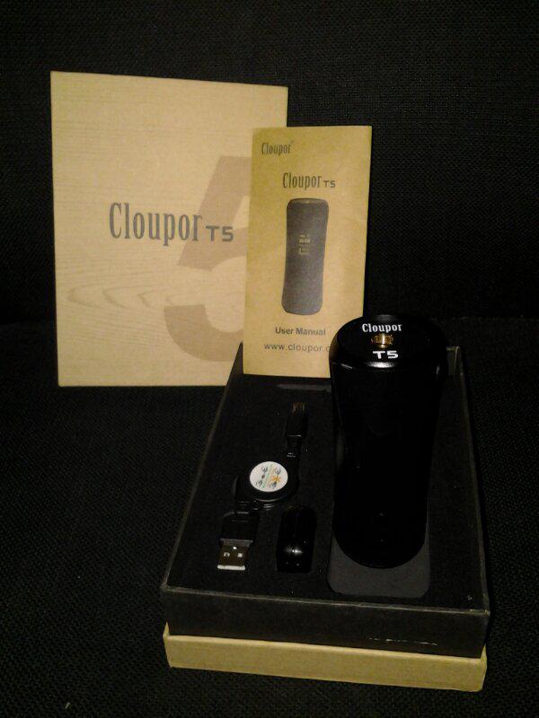 Wts Vaporizer Cloupor T5 50watt upgradable firmware to 75watt