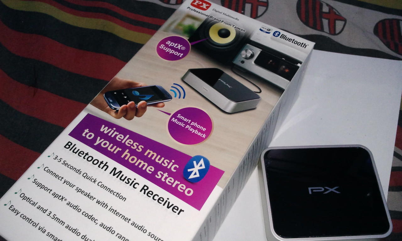 Bluetooth Music Receiver PX BTR-1600, Transfer Music Wireless ke Home Theater ...