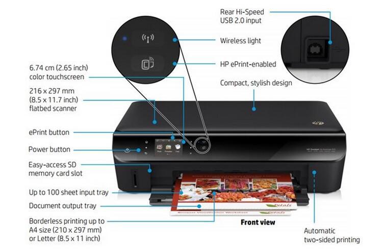 Printer HP Deskjet 4515 | 2545 | Wireless | Android | Apple AirPrint