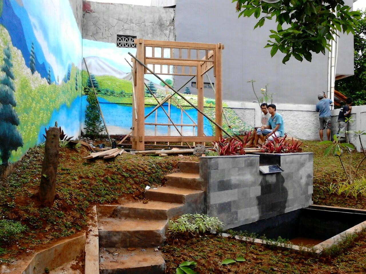 Terjual Tukang Taman Tropis Taman Bali Taman Jepang Kolam Minimalis