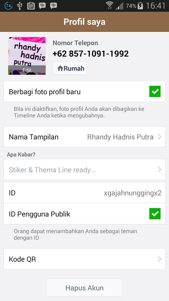 Stiker dan Thema Line Murah Bandung