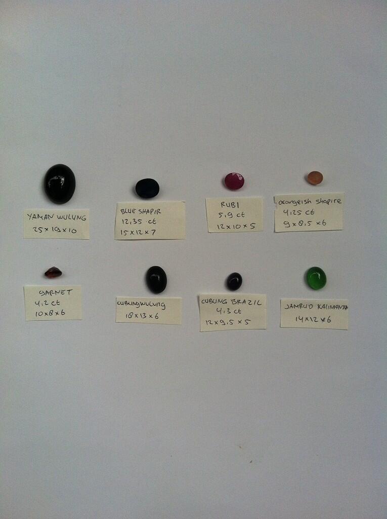 Batu Cincin Natural Murah: Kalimaya, Biduri Bulan, Safir, Zamrud, Opal, Ruby