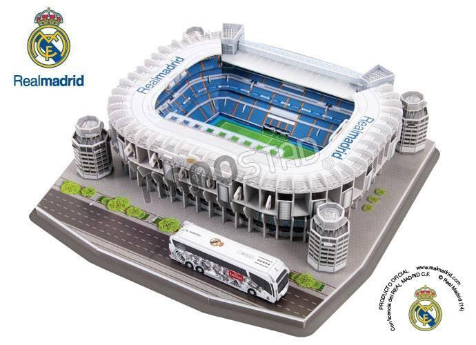 3D Puzzle Stadium [Miniatur / Replika Stadion] Santiago Bernabeu/ Real madrid