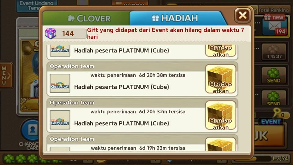 Jual ID LINE GET RICH Level 54 [Card S MAX 2 Biji + Pendant Mantap]