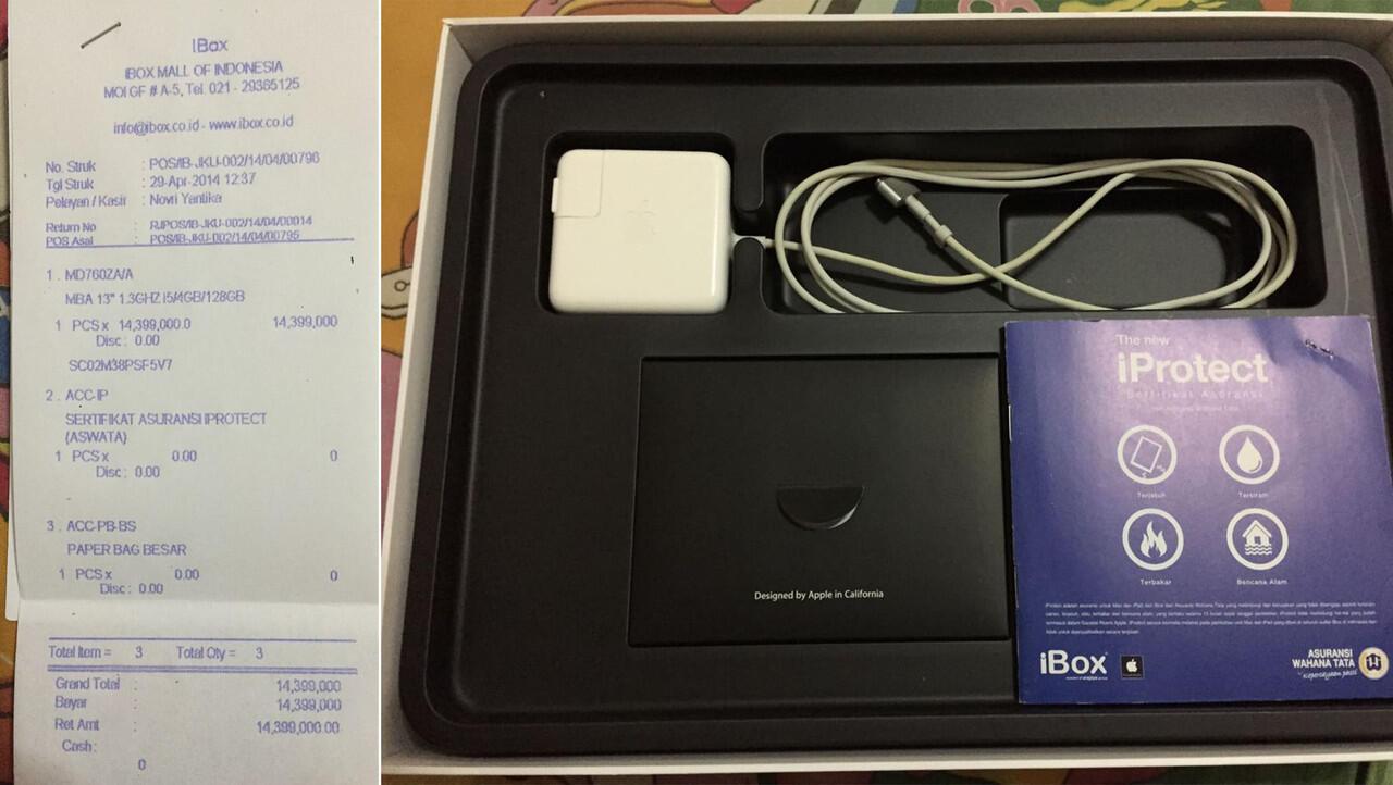 """Macbook Air 13"""" Haswel 2014 Mulus Mantap Garansi Ibox"""