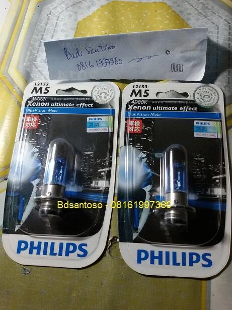 Jual lampu motor Philips Xenon Ultimate Effect M5 Blue Vision