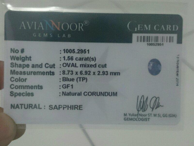 cincin batu mulia blue sapphire / saphire / safir murah meriah + memo