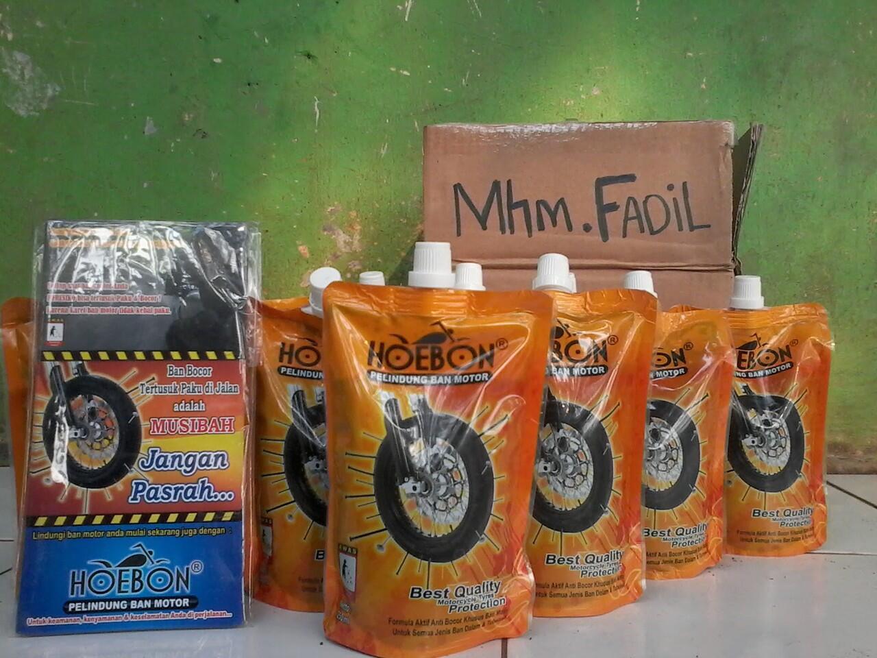 Liquid Hoebon Penambal Otomatis Ban Motor + VIDEO UJI COBA [Bogor]