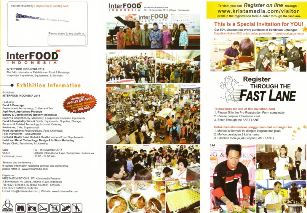 Terjual [DIJUAL MURAH] UNDANGAN EXHIBITION INTERFOOD INDONESIA 2014