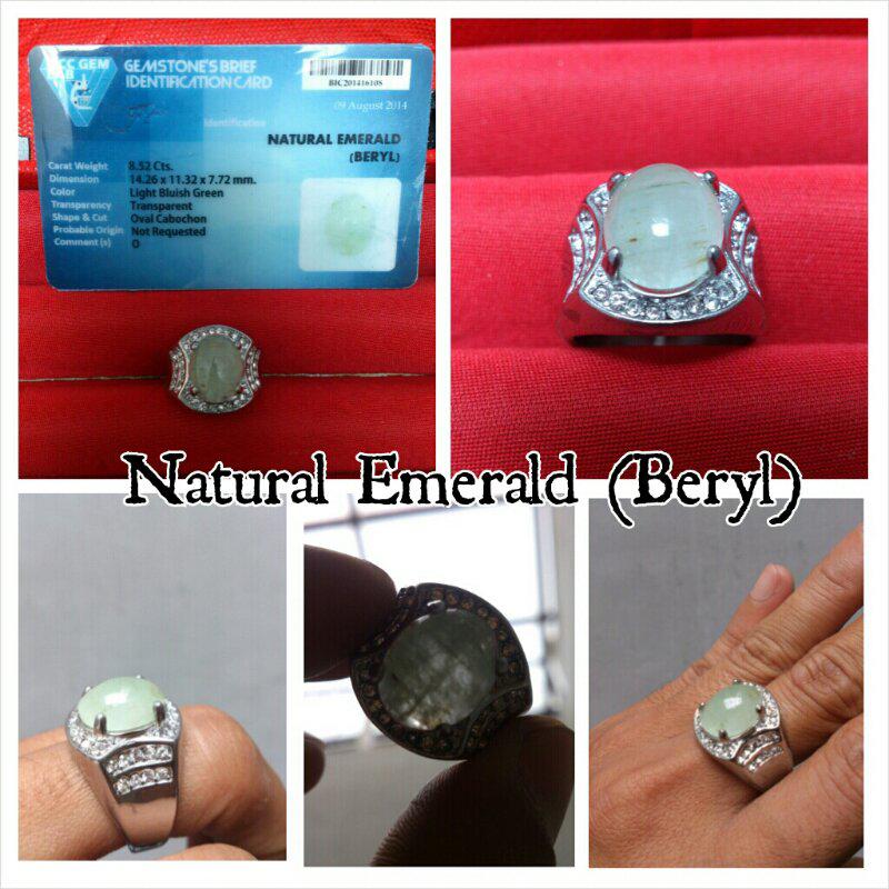 Zambrud ( Natural emerald beryl ) memo acc lab