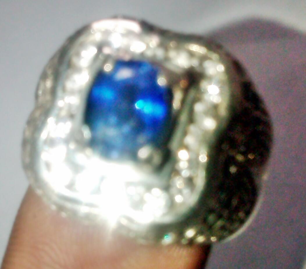 Cincin Batu Natural Blue Saphire Srilangka