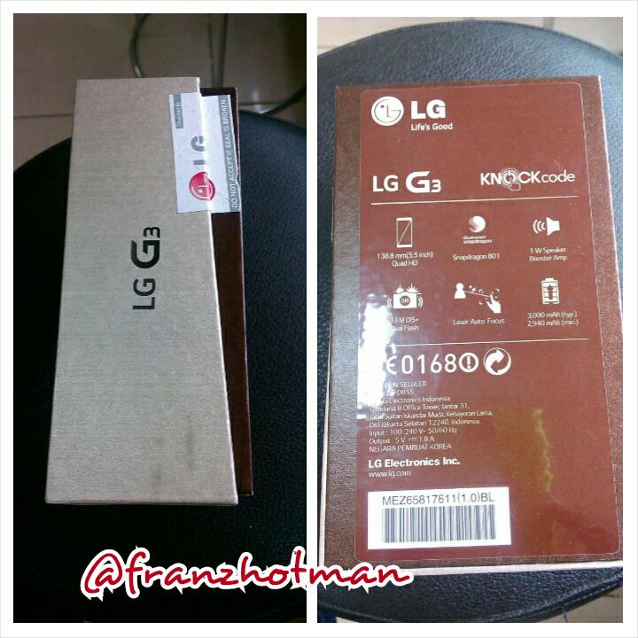 LG G3 (D855) kondisi BARU/BNIB jual cepat aja cuma 5 JUTAAN !! BURUAN GAN! Cod Bogor