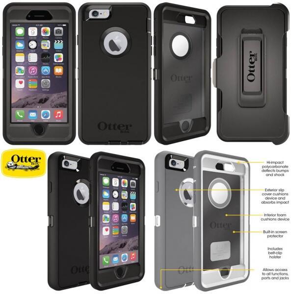 CASE LOVE MEI LUNATIK, OTTERBOX DEFENDER, IPHONE 6, PLUS, TEMPERED GLASS NUGLAS
