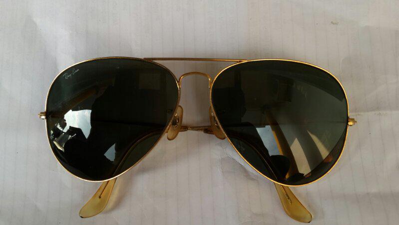 Rayban BL Aviator Gold Frame lensa G15 uk 62 Made in USA