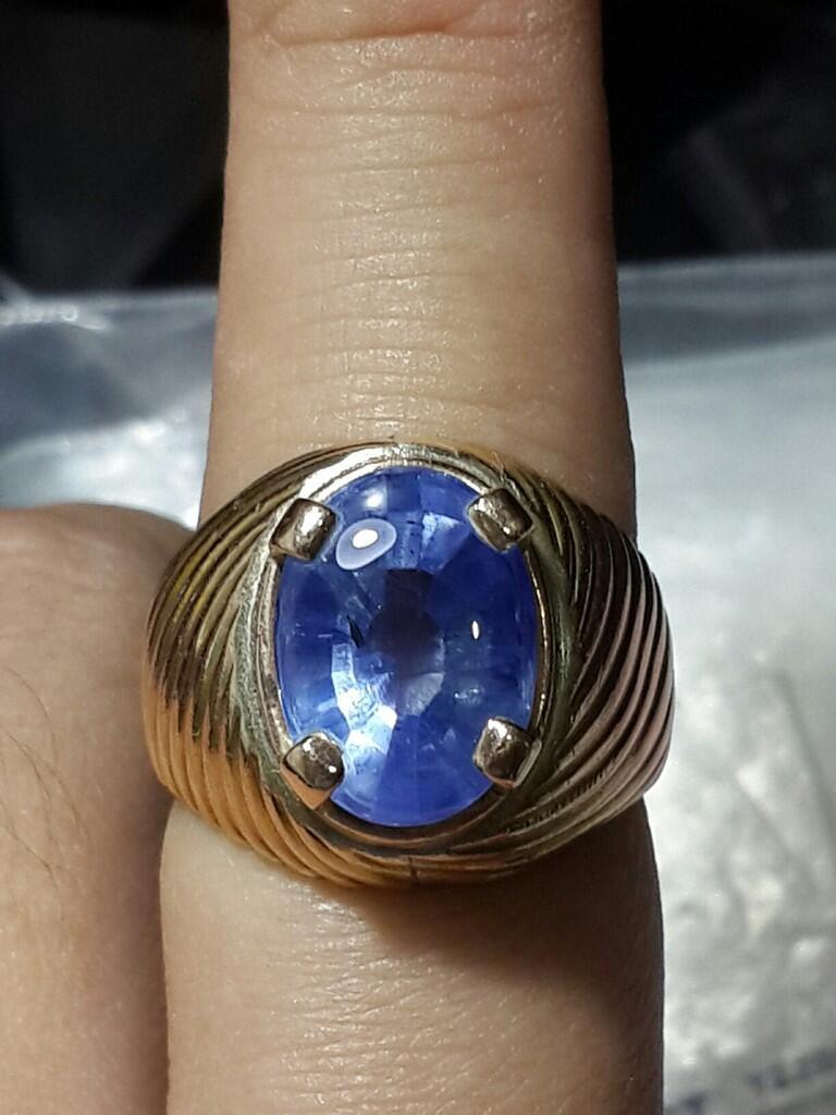 cincin batu mulia blue sapphire / saphire / safir
