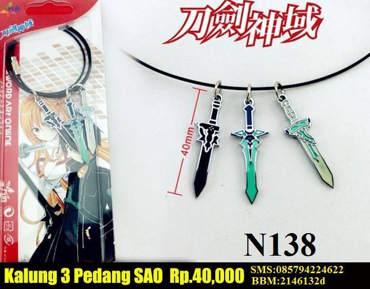 kalung anime,necklace naruto hokage,fairytail,finnal fantasy,SAO,AOT,(spade)