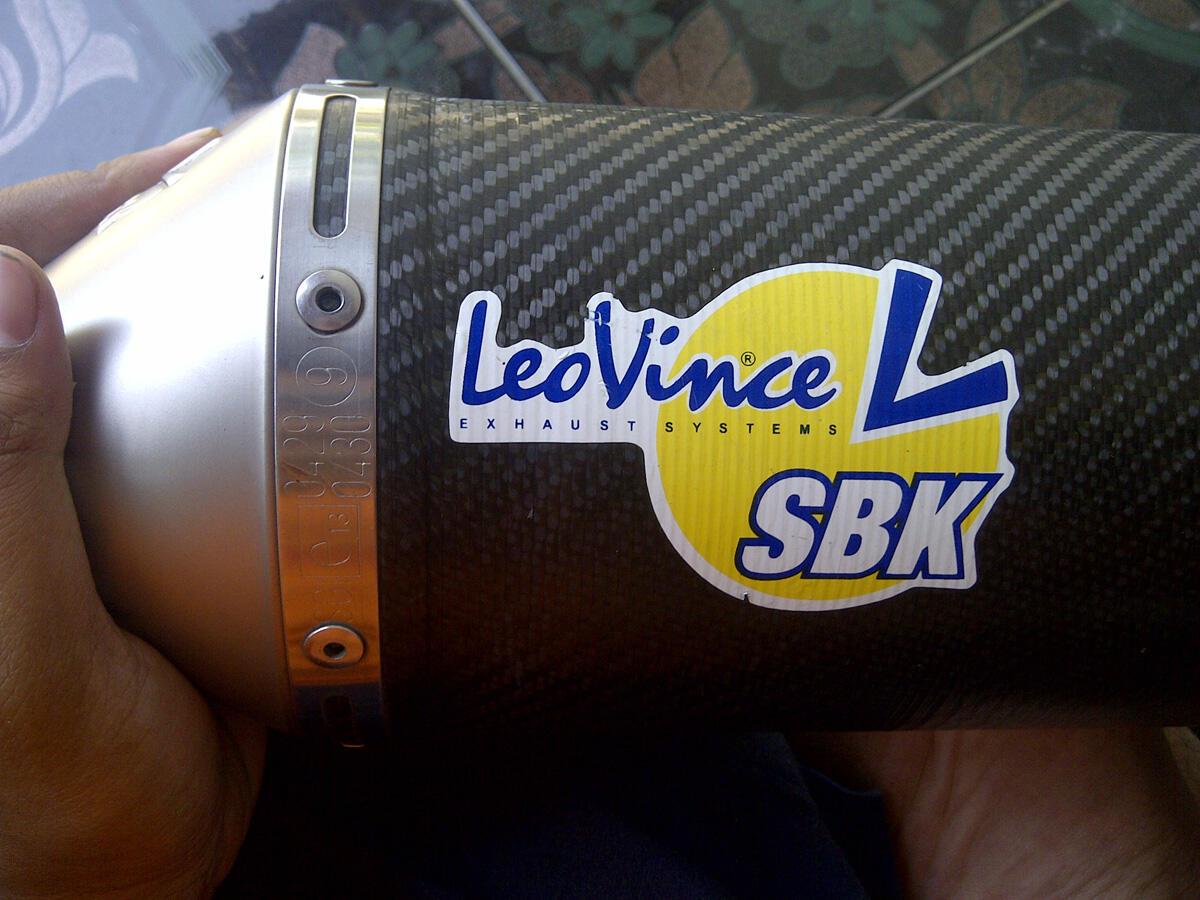 FS : Knalpot leovince sbk evo I full system ORIGINAL ninja 250