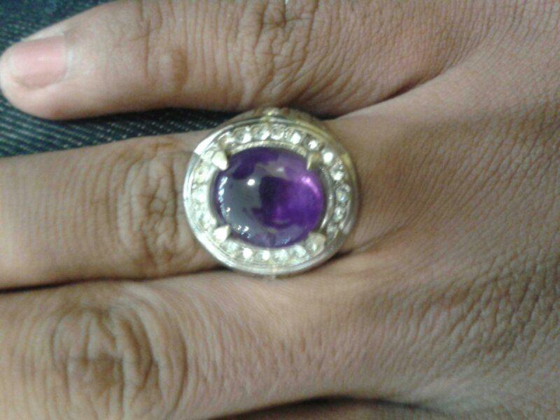 Batu Permata Natural amethyst kecubung ungu kristal borneo