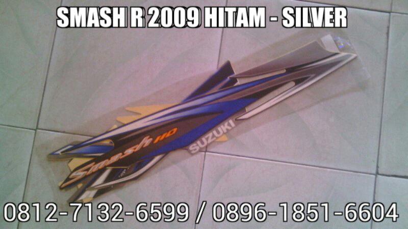 Striping Smash R 2009 Hitam - Silver