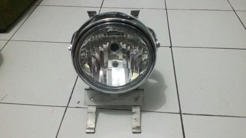 [Jual] Headlamp Ninja R Bulat second originsl plus Bracket.
