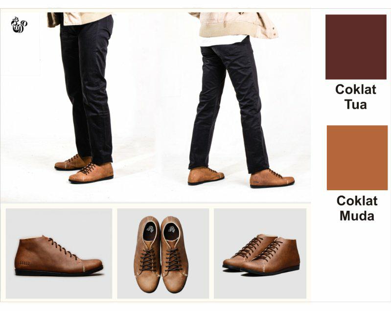 Sepatu boots kulit cowok (handmade)
