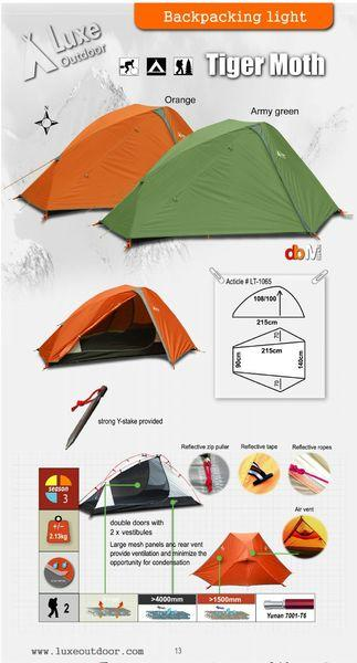Tenda LUXE Tigermoth , sekali pake Malang Kota