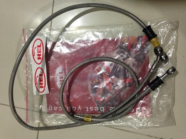 For Sale: Selang Rem/Brake Line HEL ex ninja 250 FI titanium colour
