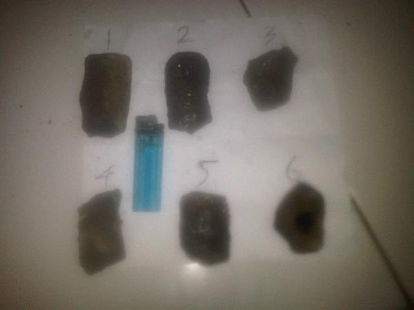 Lelang rough/bahan black opal
