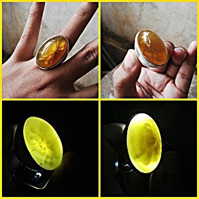 Batu cincin Pandan Nanas Kuning