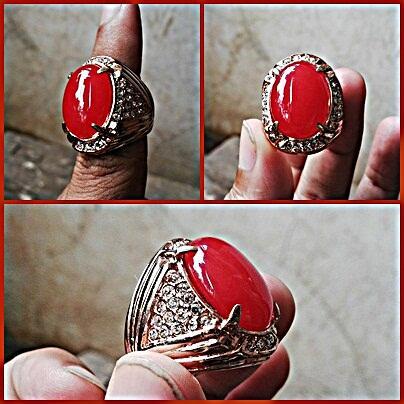 Batu cincin Giok Merah
