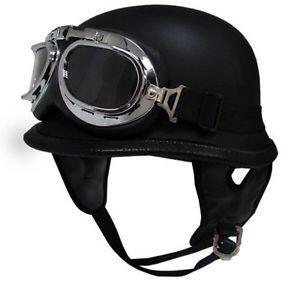 DOT German Motorcycle Half Helmet Chopper Cruiser Biker (TMS HY 809) Ready Stock !!!
