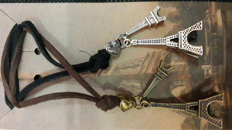 kalung kulit paris pasangan